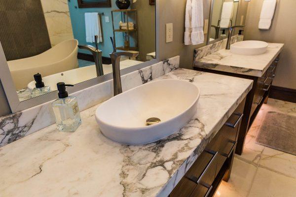 Marble Vanity Raised Sink 1