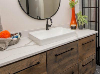 Quartz Vanity Raised Sink