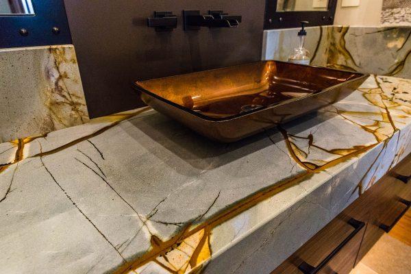 Quartzite Vanity Raised Sink